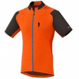 Shimano Explorer wielershirt korte mouwen orange blauw
